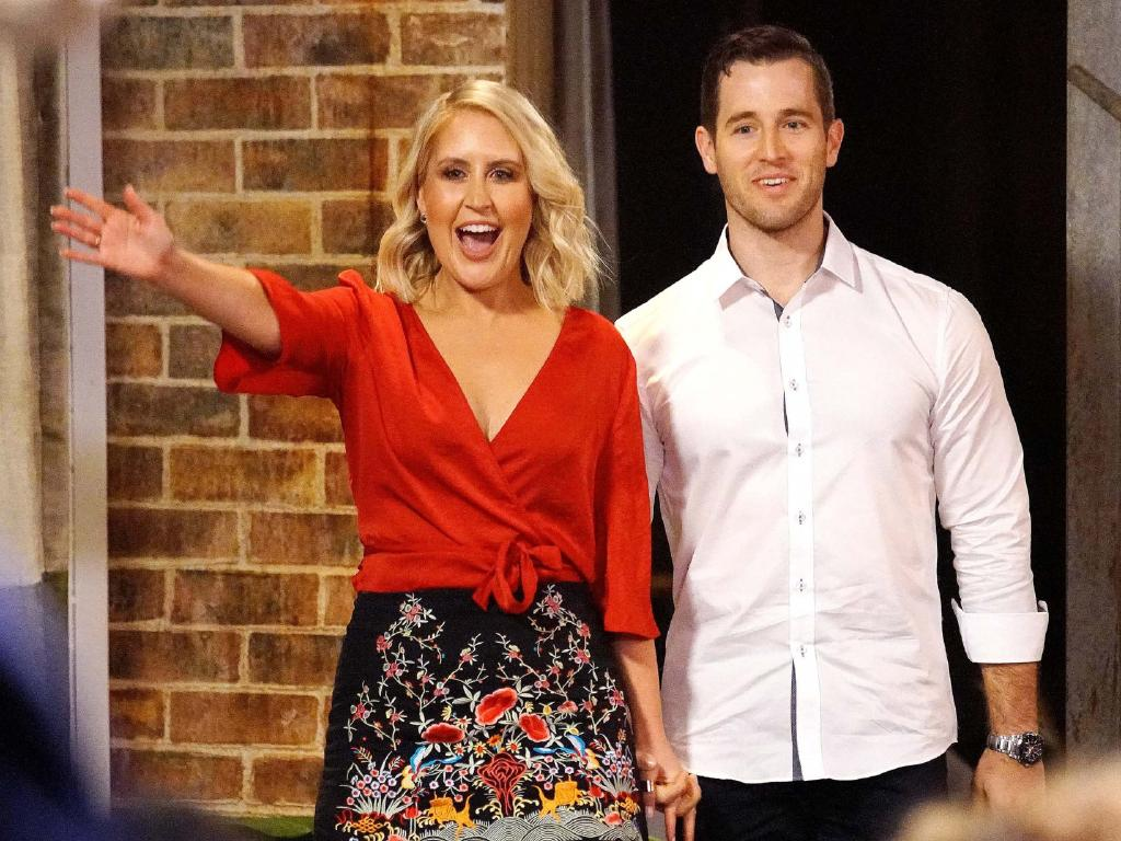 Lauren and Matthew on Married At First Sight. Picture: Nine, Supplied