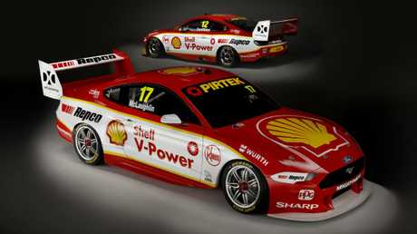 The new Ford Mustang replaces the Falcon. Picture: DJR Team Penske