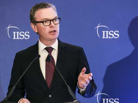 Australian Defence Minister Christopher Pyne has unleashed on his colleagues in remarks to the media. Picture: AP Photo/Yong Teck Lim