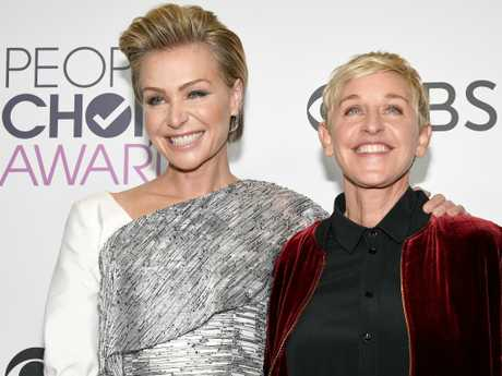 Ellen DeGeneres and Portia de Rossi also made an appearance. Picture: Getty Images