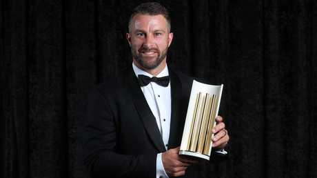Matthew Wade with his Domestic Player of the Year gong. Picture: Getty