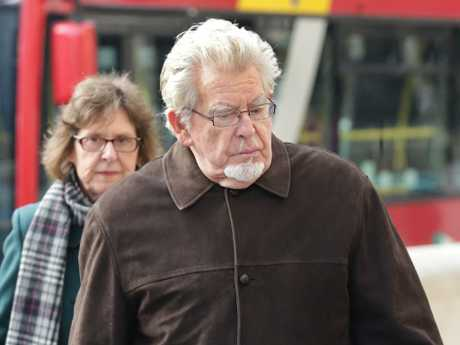 Rolf Harris arrives at Royal Court of Justice in London during his trial. Picture: Ella Pellegrini