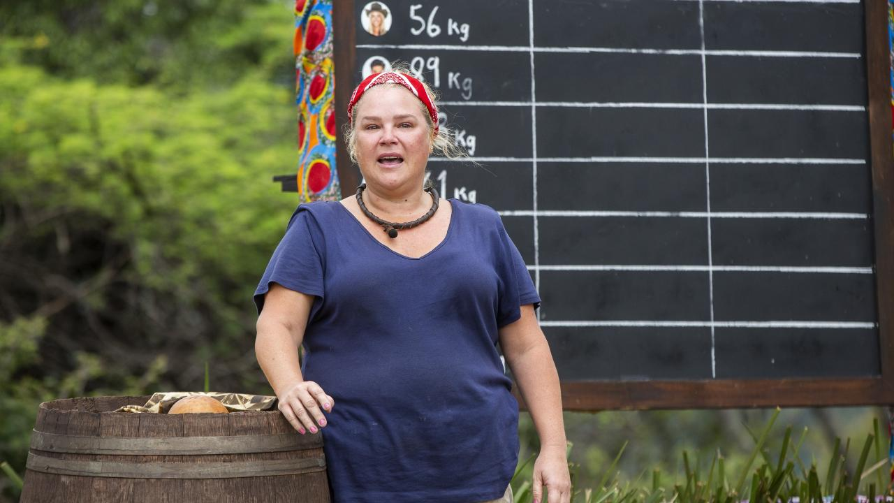 Yvie Jones stunned her I'm a Celeb camp mates with a powerful speech about body image.