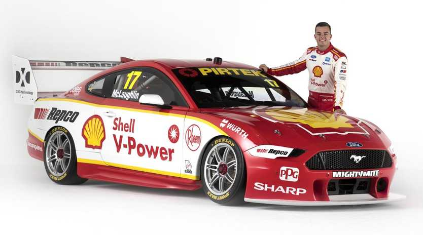 Shell V-Power Racing Team has unveiled their 2019 livery with the new Ford Mustang Scott McLaughlin will be driving in his Supercars title defence. Picture: DJR Team Penske