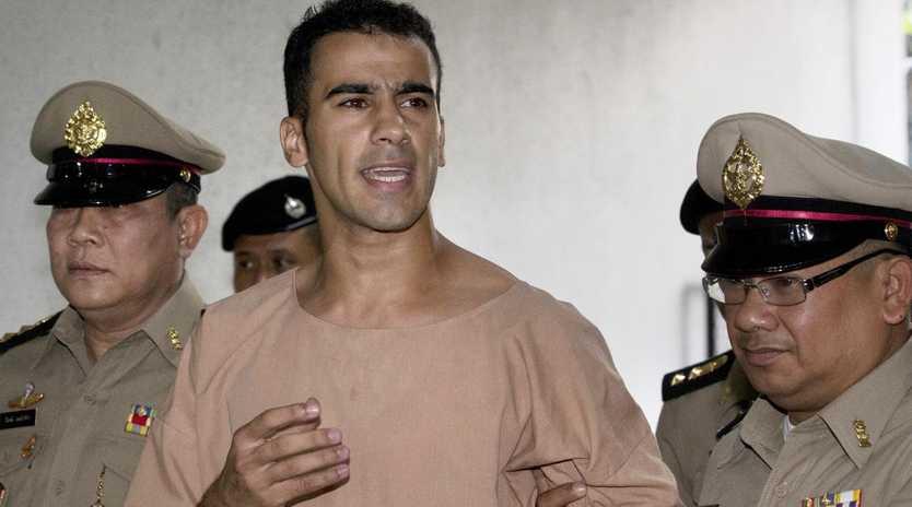 Detained Bahraini soccer player Hakeem al-Araibi arrives at the criminal court in Bangkok. Picture: AP Photo/Sakchai Lalit, File.