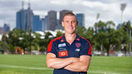 Melbourne Football Club head coach Simon Goodwin. Picture: Sarah Matray