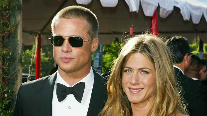 Brad Pitt and Jennifer Aniston in happier days. Picture: Getty Images