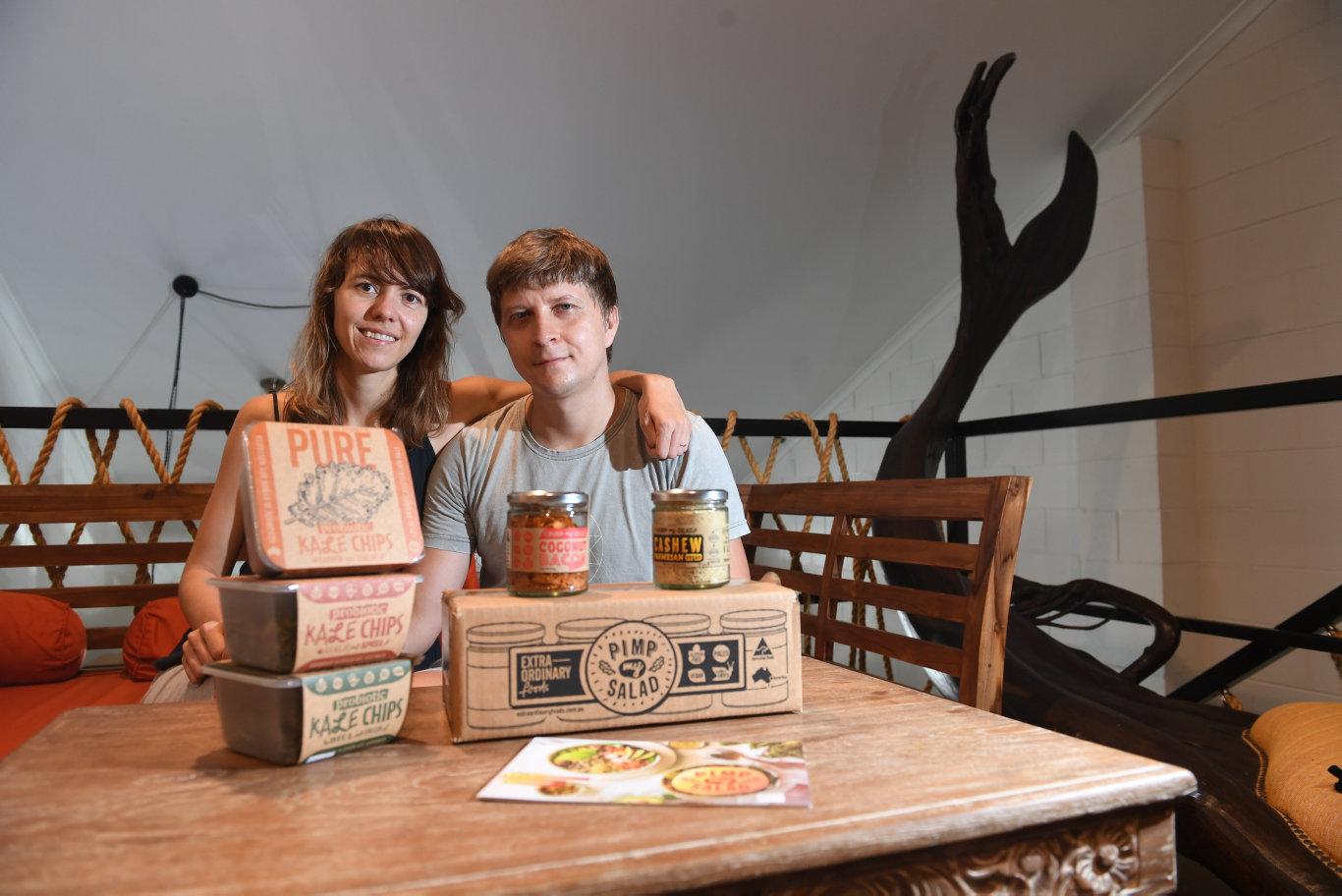 EXTRAORDINARY BUSINESS: Extraordinary Foods founders Alex Komarov and Olga Plotnikova at their Northern Rivers production facility.