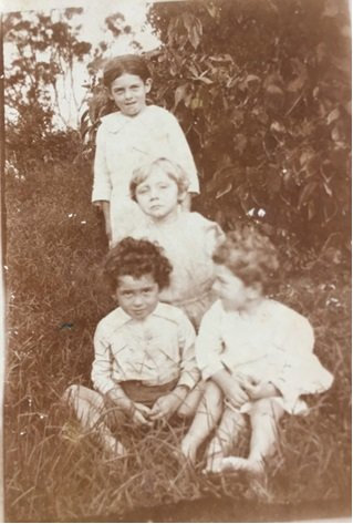 Lloyd Lambert with his three siblings.