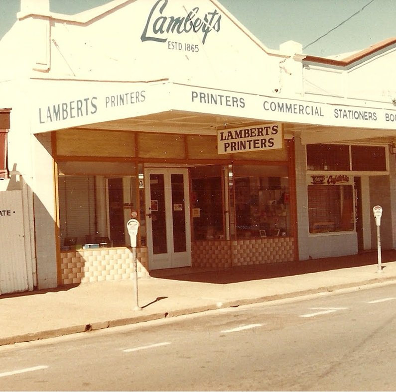 Lloyd Lambert's printing business in Adelaide St, Maryborough.