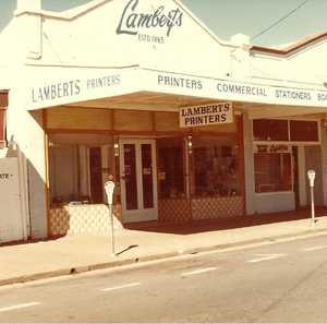 Lloyd Lambert's printing business in Adelaide St, Maryborough.
