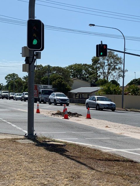 Debris is blocking traffic on Boat Harbour Drive in Torquay.
