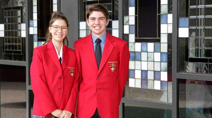 LEADERS: Shalom College 2019 captains Emma Moonie and Paul McMahon.