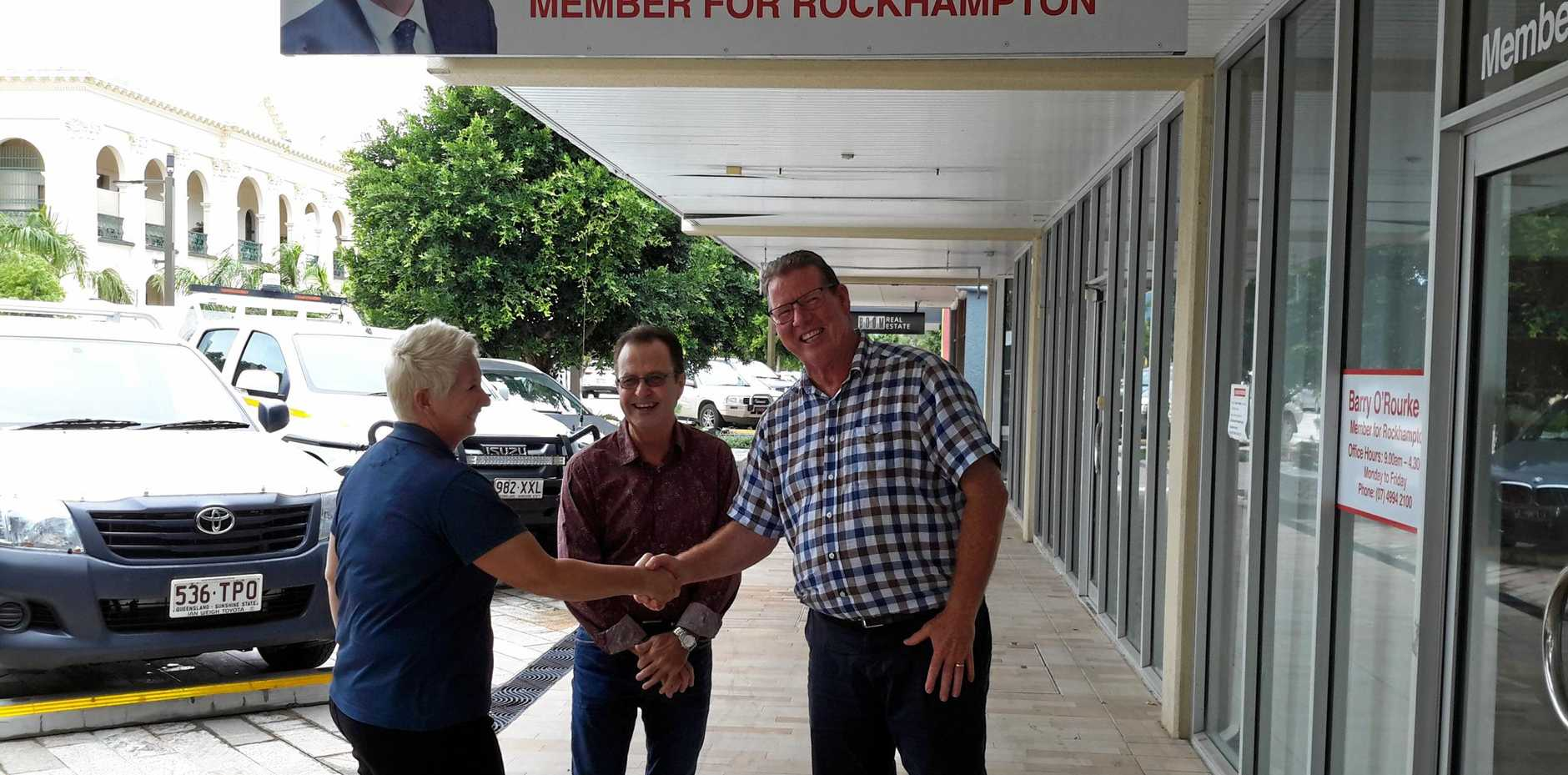 SKILLING QUEENSLANDERS: MP Barry O'Rourke discusses Skilling Queenslanders for Work with Jamie Burke and Chamay Bauer of Jobs Queensland.