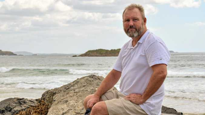 HERO: While recovering from serious injuries, Michael Bourne helped rescue four Korean tourists from a rip at North Wall beach.