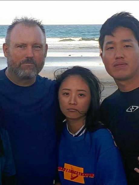 Michael Bourne helped rescue four Korean tourists.