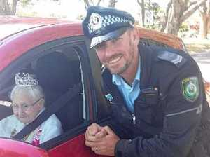 Centenarian pulled over by police