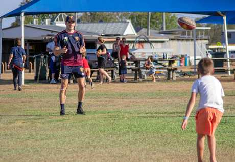 Madden and Neale hosted a community clinic at Cahill Park on Monday afternoon.