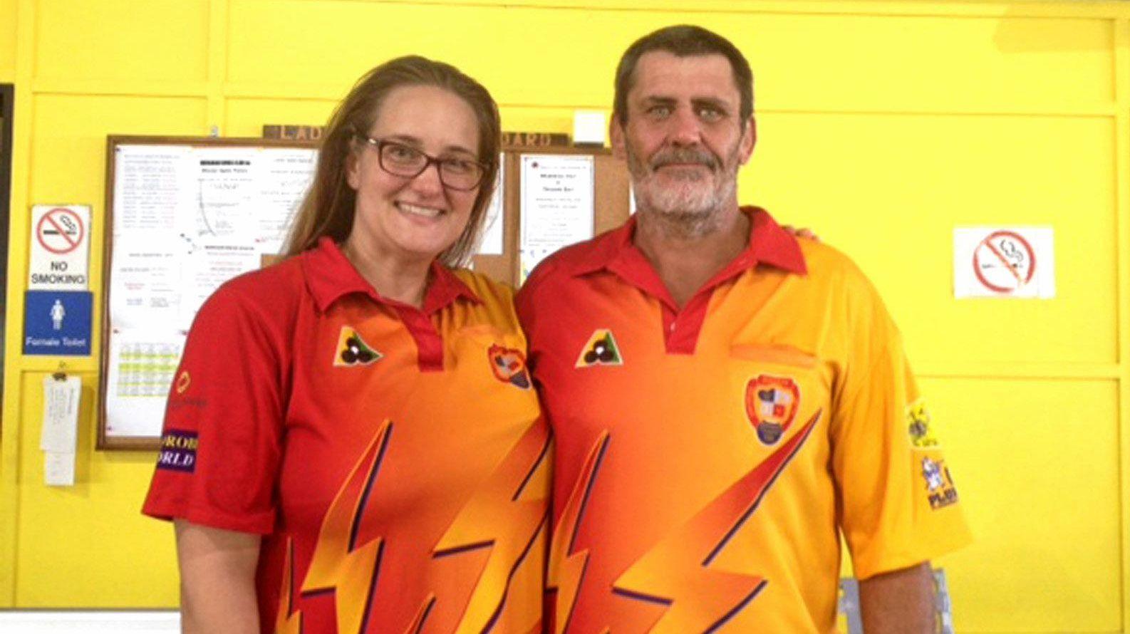 Mackay Bowls Club's Karlie Burns and Rick Dunn will contest the 2019 Mackay District Mixed Pairs semi-finals.
