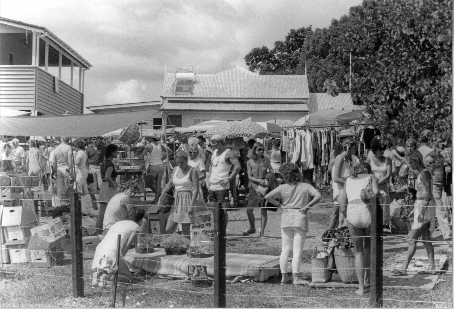 Eumundi Markets, circa 1981.