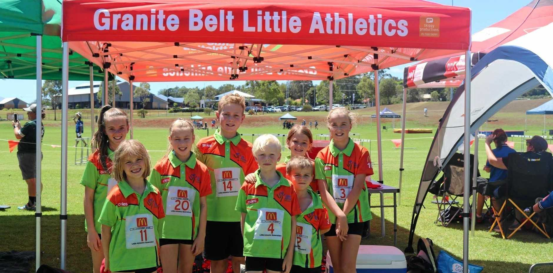 Our Granite Belt little athletics competitors at the regional championships.