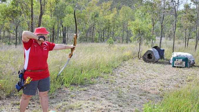 ON TARGET: Pauleen Dakin is a founder of North Burnett Field Archers.