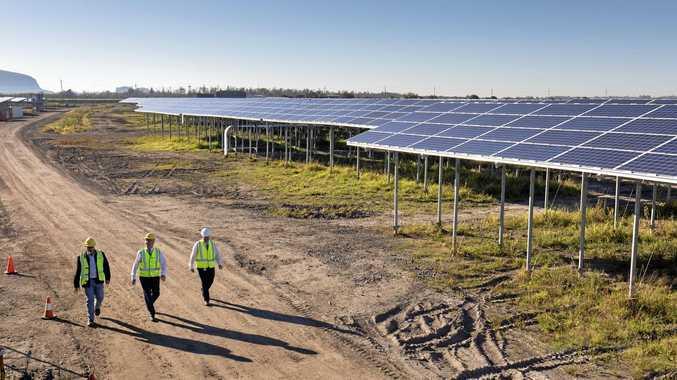 On site at the Sunshine Coast Solar Farm.