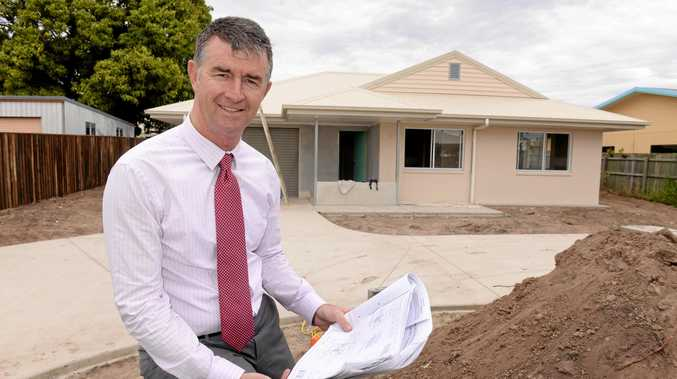 Shadow Treasurer Tim Mander said business confidence was  falling under Labor. Mr Mander pictured here on site at the Electra Street property in 2014.