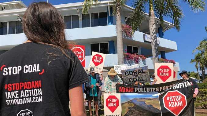 A protest against the controversial Adani carmichael coal mine.