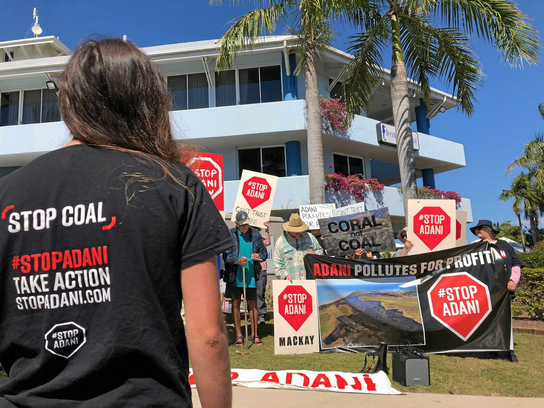 A protest against the controversial Adani carmichael coal mine.