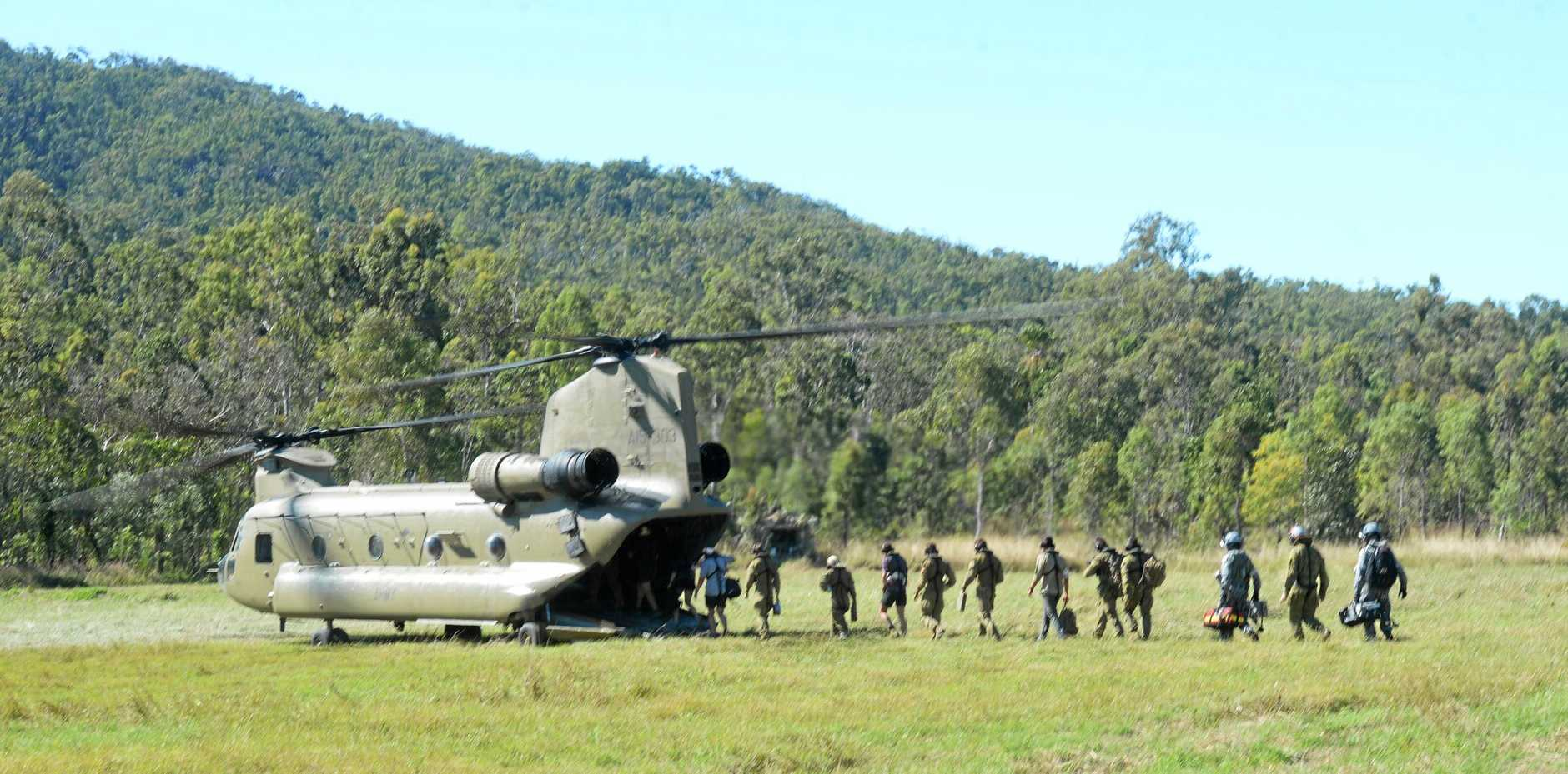 Exercise Hamel at the Shoalwater Bay Military Training Area.