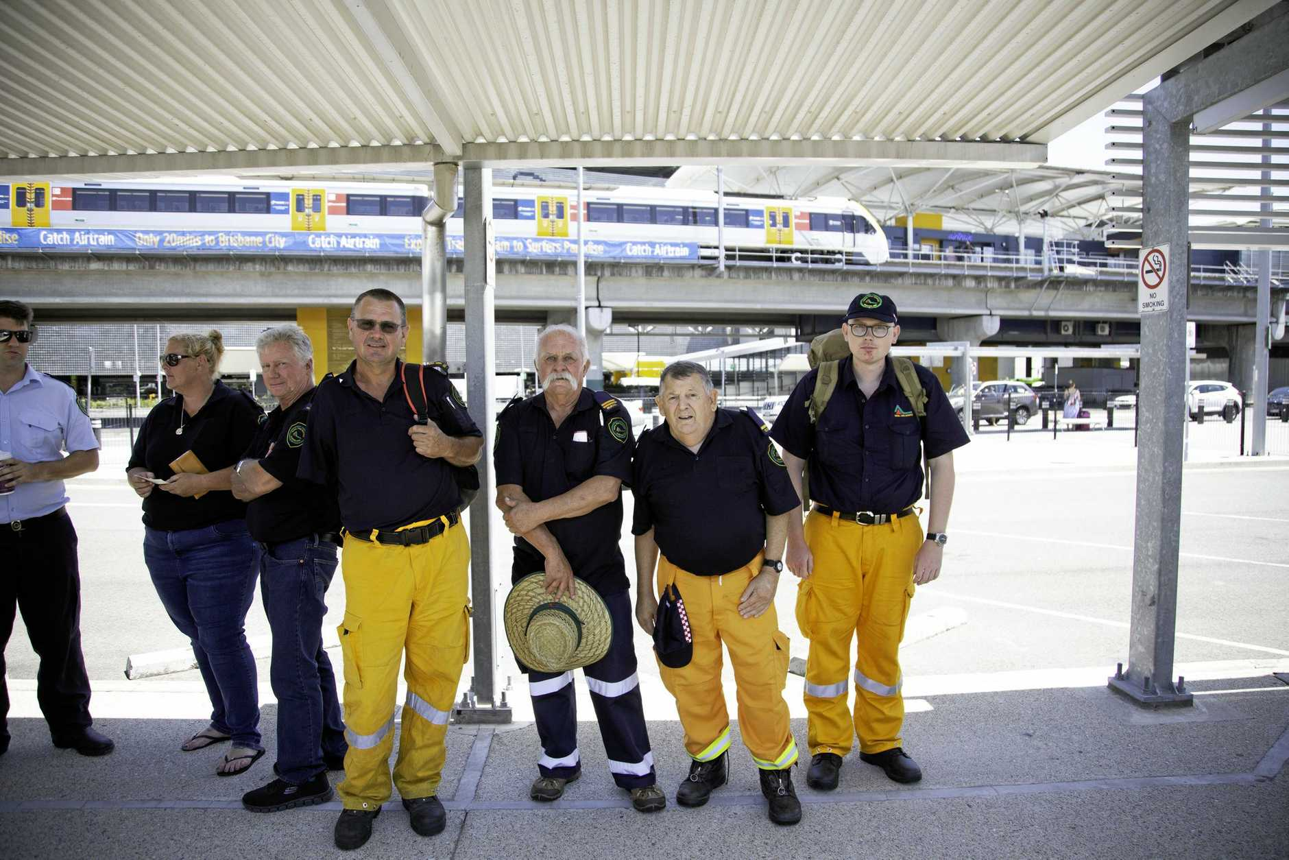 Thirty two Queensland Fire and Emergency Services volunteers went back to their