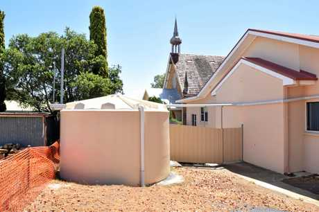 The Uniting Church applied for a community grant to a 50,000L water tank at the back of the Church.