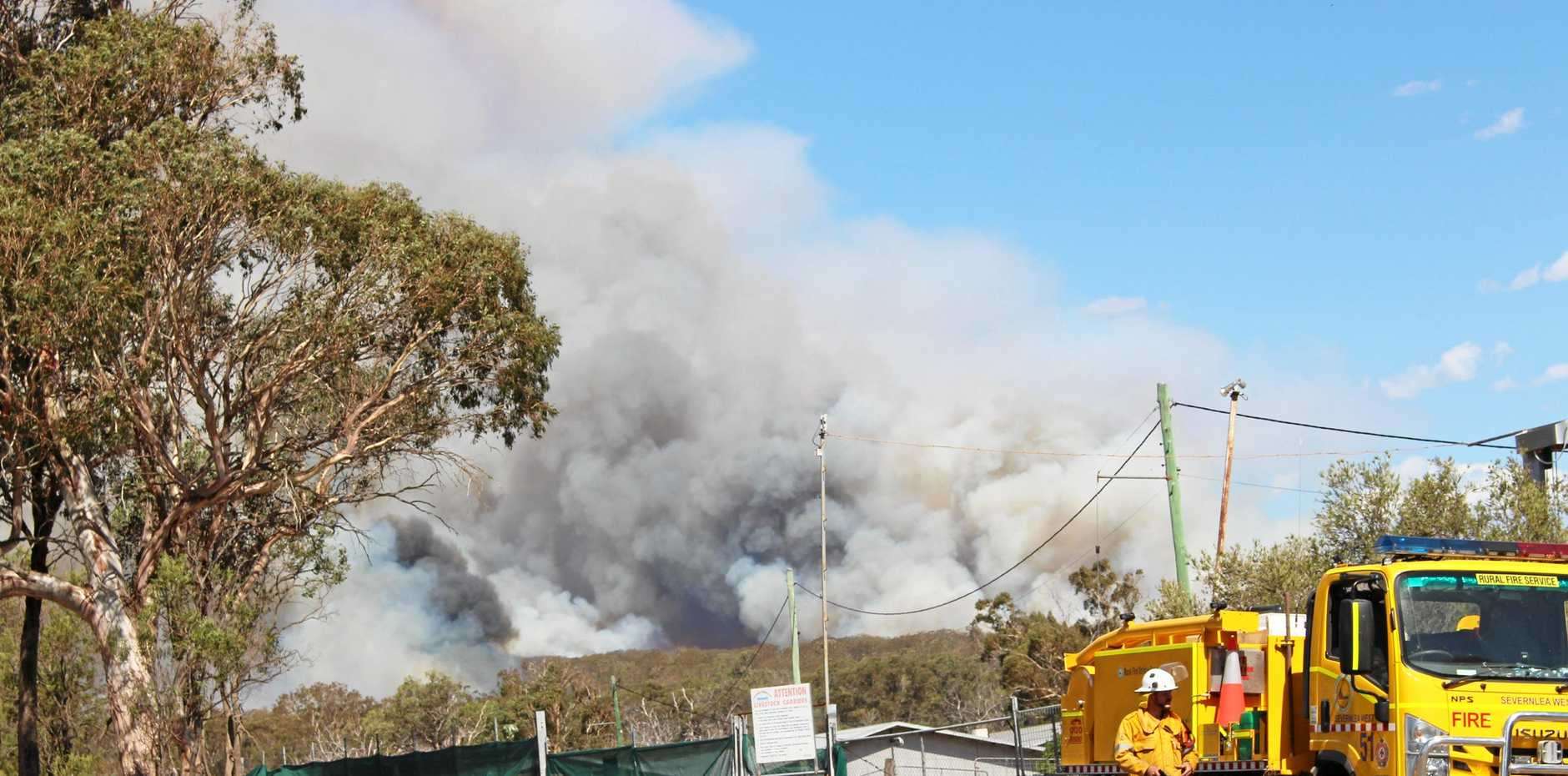 Fire at Wallangarra in Girraween National Park
