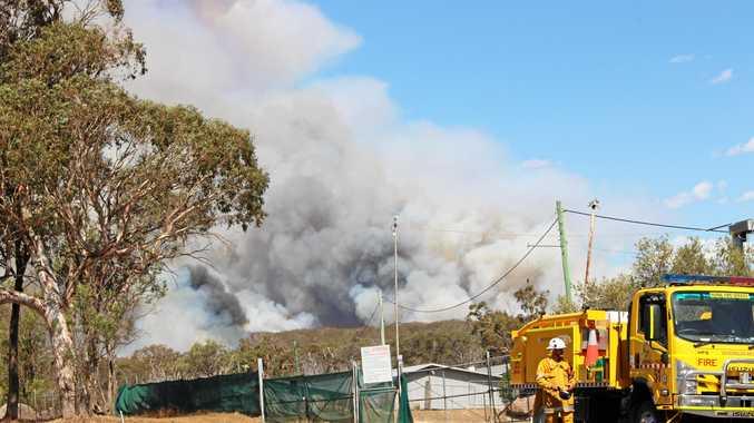 Fire at Wallangarra in Girraween National Park