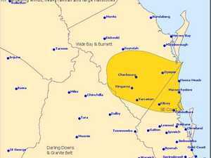 STORM WARNING: Heavy rain, large hailstones coming to Gympie