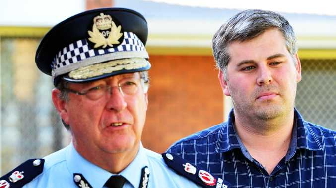 Police Commissioner Ian Stewart and Police Minister Mark Ryan. Picture: Zak Simmonds