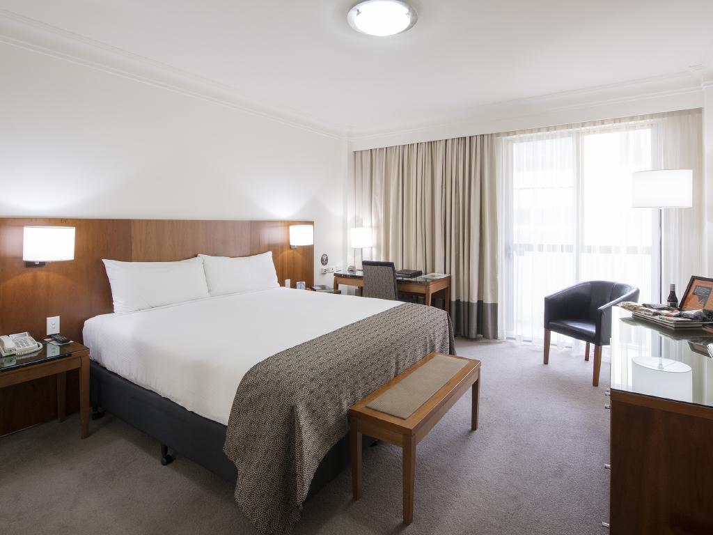 The comforts of a classic room at the Majestic.