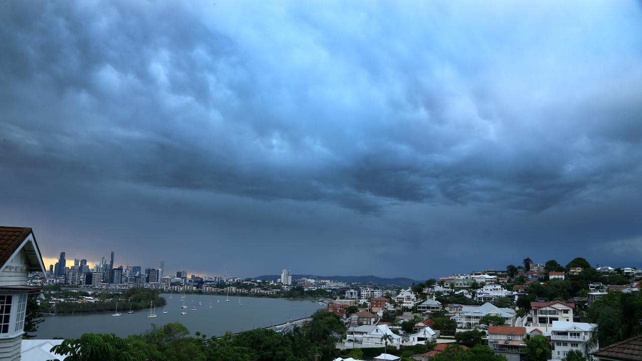 A late afternoon storm is on the cards as temperatures soar around southeast Queensland. Picture AAP/David Clark