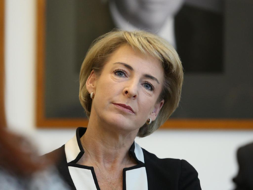 Senator Michaelia Cash's chief of staff was the source of a controversial leak to the media about imminent police raids at Australian Workers' Union offices. Picture Gary Ramage