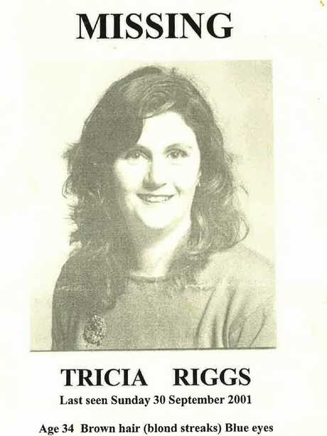 A missing poster for Tricia Riggs