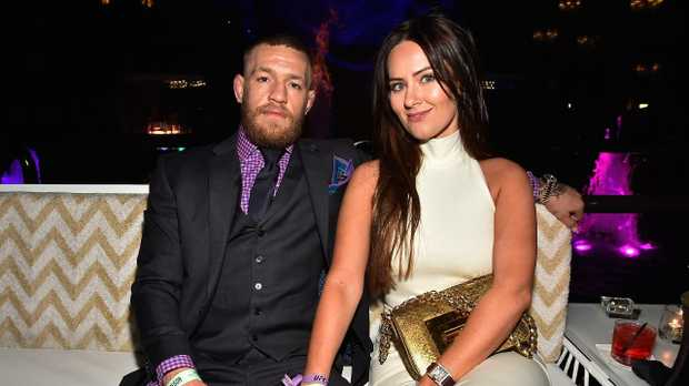 Conor McGregor and longtime girlfriend Dee Devlin. Picture: David Becker/Getty Images