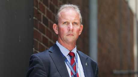 Queensland Police Union president Ian Leaver. Picture: AAP Image/Claudia Baxter