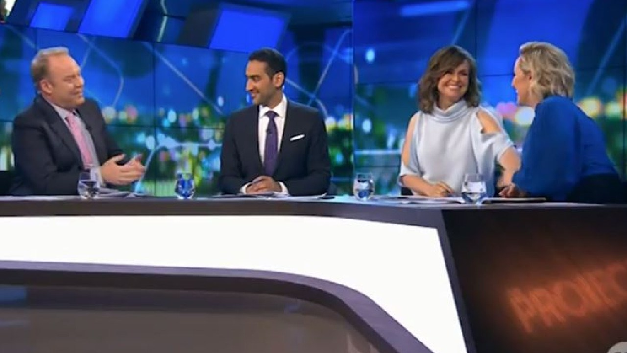 Lisa Wilkinson held hands with Fifi Box as she discussed her pregnancy