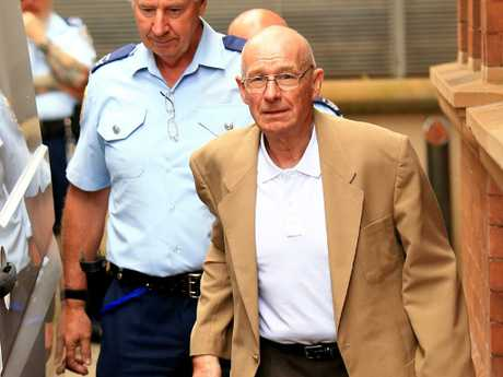 Roger Rogerson leaves the Supreme Court during his trial for the murder of Jamie Gao. Picture: Adam Taylor