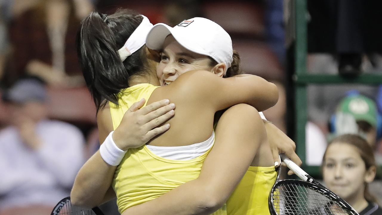 Ashleigh Barty carried the Aussies through with three wins.