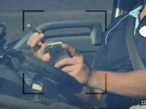 Driver caught using two mobile phones