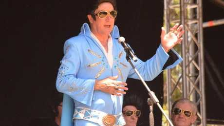 Nationals leader Michael McCormack at the 2019 Elvis festival in Parkes, NSW.