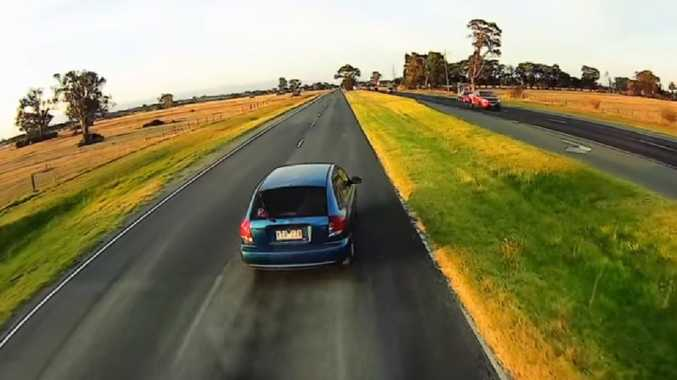 'Stupid' P-plater's crazy act. Picture: Dash Cam Owners Australia
