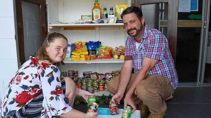 Pantry doors open to needy
